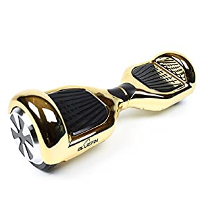 """Bluefin 6.5"""" Classic Swegway Hoverboard with Built-in Bluetooth Speakers and Carry Bag, Chrome Gold, 6.5-inch"""