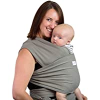 Super Quality Baby Sling Wrap Carrier | Cosy Soft Breathable Cotton Baby Wrap Carrier | Post Postpartum Belt | Nursing Cover | Great Infant Carrier | Perfect Gift | Plastic Free Packaging (Oyster)