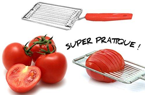 Générique Coupe-tomates 10 lames en métal chromé