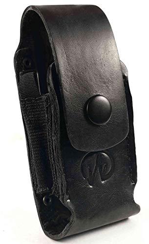 Personalisierte Echt Leder Holster Hülle Tasche Für Leatherman Charge LP951 - Schwarz