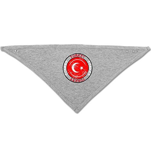 by - Turkey Kreis Vintage - Unisize - Grau meliert - BZ23 - Baby-Halstuch als Geschenk-Idee für Mädchen und Jungen (Stadt Fußball)