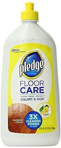 Pledge Wood Floor Care 4-in1, Citrus Scent, 27-Ounce Squirt Bottle by Pledge