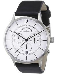 Zeno Watch Basel 6562-5030Q-i2 - Reloj analógico de cuarzo para hombre con correa de piel, color negro