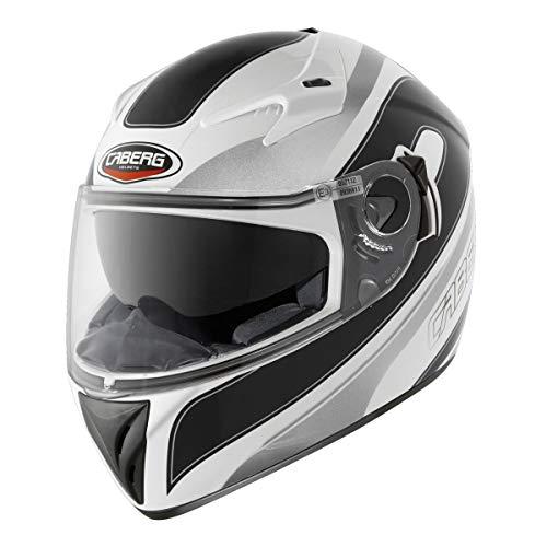 Caberg V2RR Chrono Motorbike Full Face Racing Crash Helmet White/Black, Hombre Mujer,...