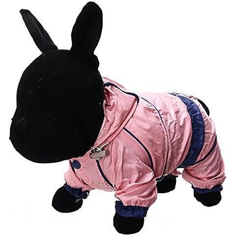 cappotto dell'animale domestico felpe accoglienti cane impermeabile caldo morbido vestiti 1 colori 6 taglie , pink