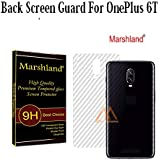 Marshland Back Screen Guard Flexible Designer Smart Looking Back Screen Protector Compatible with Oneplus 6T / One Plus 6T (Transparent)