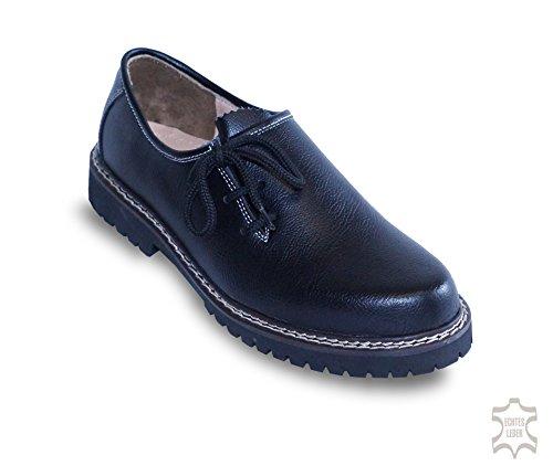 Waller Trachtenmoden , Chaussures de ville à lacets pour homme Schwarz (Glattleder)