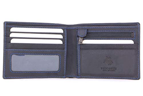 Visconti - SHIELD 707 - Cartera - Cuero Hunter Azul