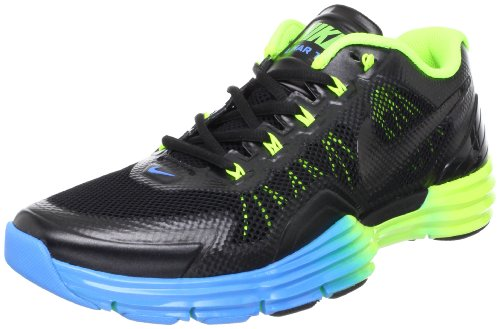 Mens Lunar Tr1 Chaussures de course Black / Volt / Blue Glow
