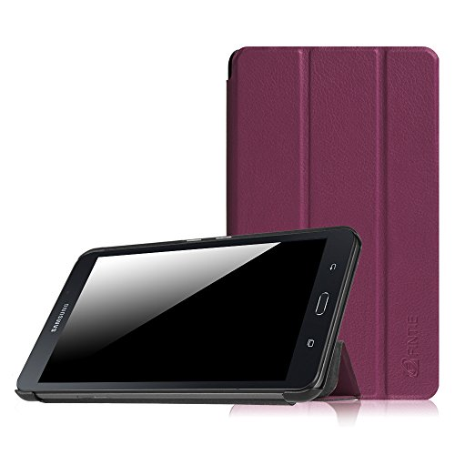 Fintie Hülle für Samsung Galaxy Tab A 7.0 Zoll SM-T280 / SM-T285 Tablet (2016 Version)- Ultra Schlank Superleicht Ständer Slim Shell Case Cover Schutzhülle Etui Tasche, Lila