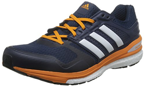 adidas Herren Supernova Sequence Boost 8 Laufschuhe, Mehrfarbig (Collegiate Navy Blau/Weiß/EQT Orange), 44 EU (Adidas-sequence)