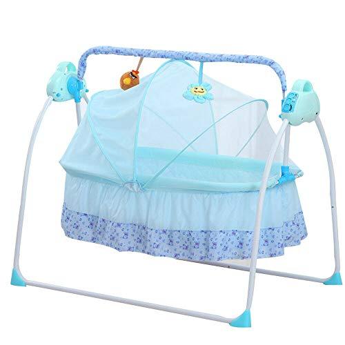 BTdahong Elektrische Baby Wiege Automatische Babyschaukel Babyschale Platz Safe Babywippe Vibration...