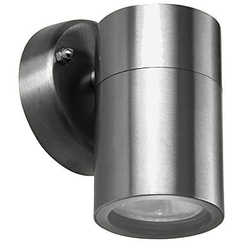 Moderne LED Edelstahl Außen Wandleuchte Spot Bornholm 1 flammig down inklusive Leuchtmittel Fassung GU10 Außenstrahler Spot