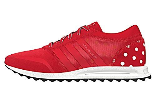 adidas Los Angeles W, Damen Hallenschuhe, Mehrfarbig - rot/weiß - Größe: 37 1/3 EU