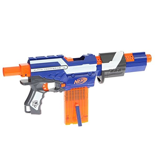Hasbro Strike Alpha Trooper Toy assault rifle - armas de juguete (Niño, Negro, Azul, Naranja, Color blanco, Nerf, Toy assault rifle, Caja)