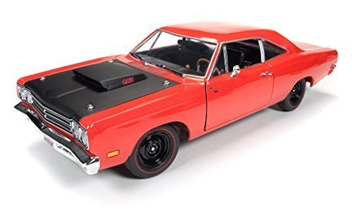 1969-plymouth-road-runner-r4-440-6-red-limited-edition-1254pc-1-18-by-autoworld-amm1046-by-autoworld