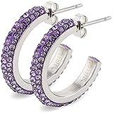Anelli a forma di U tempestati di diamanti, orecchini in acciaio di titanio creativi, orecchini in acciaio inossidabile anall