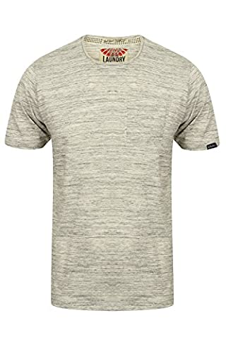 Tokyo Laundry Mens Grotto Space Dye T Shirt - Ice