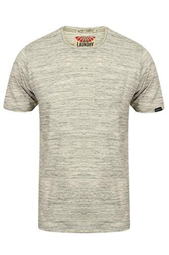 Tokyo Laundry Herren Blusen T-Shirt, Einfarbig Grau Grau Small Ice Grey