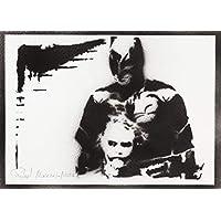 Poster Batman E Joker Handmade Graffiti Street Art - Artwork