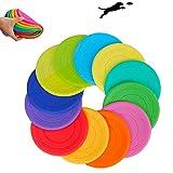 LLYU Cucciolo Giocattolo Soft Bite Wear Training silicio Cane Giocattolo indistruttibile - Design aerodinamico Adatto per Volo Esterno (Colori Casuali)