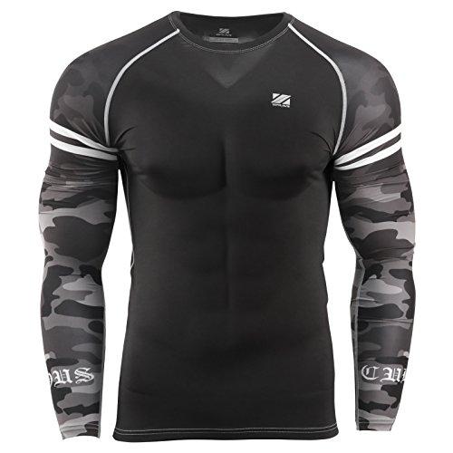 zipravs MMA Kompressions-Shirt, langärmelig - ZCDS-119 - L -