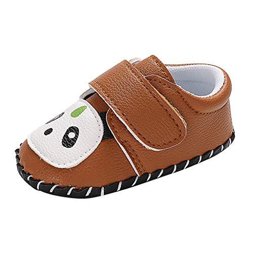 Alwayswin Baby Mädchen Süß Weiche Kleinkindschuhe Mode Bequem Babyschuhe Flache rutschfest Einzelne Schuhe Klettverschluss Slip-On Wanderschuhe Freizeit Cartoon Babyschuhe