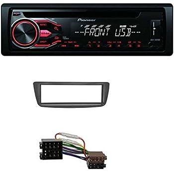 /10/de 1/DIN de radio para Citro/ën C1//Peugeot 107//Toyota Aygo Negro Acv 281040/