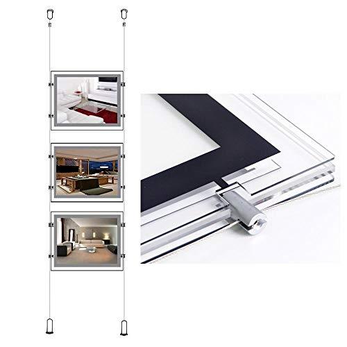 A4(Querformat) LED Schild Poster Kits für Immobilien Büro Fenster Werbung Display (3Stück für eine Spalte)