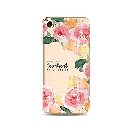 iPhone 5C - Coque souple avec impression fantaisie pour iPhone 5C - Fleurs Colorées - NOVAGO