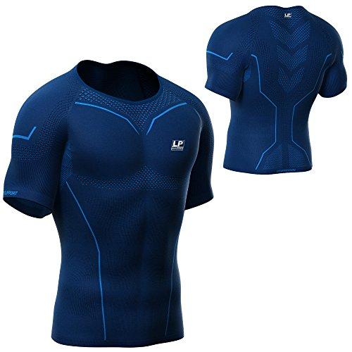 LP Support 2301Air Series Arm di Z Compression Short Sleeve Top–A maniche corte da uomo funzione Shirt–Maglietta a compressione–multifunzionale della biancheria intima termica–�?Maglietta per  Blau