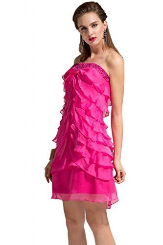 Sunvary New Fashion Chiffon Una spalla, Homecoming Gowns per feste per bambini Viola