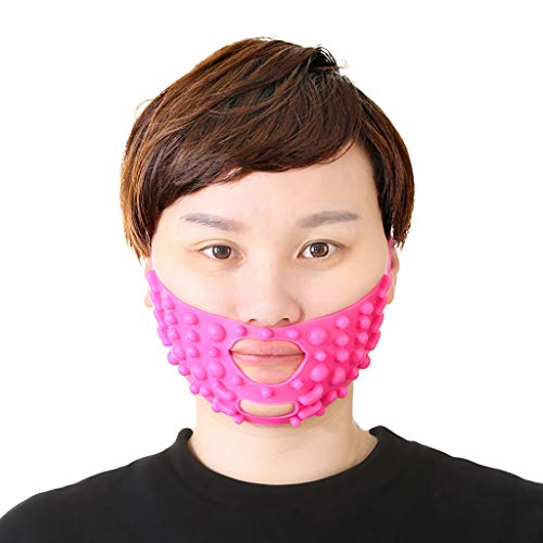 FCXBQ Gesicht Abnehmen Maske, Face Lift Bandage Slimming Mask Lift Reduzieren Doppelkinn Abnehmen Wange Abnehmen Bandagen Atmungsaktiv