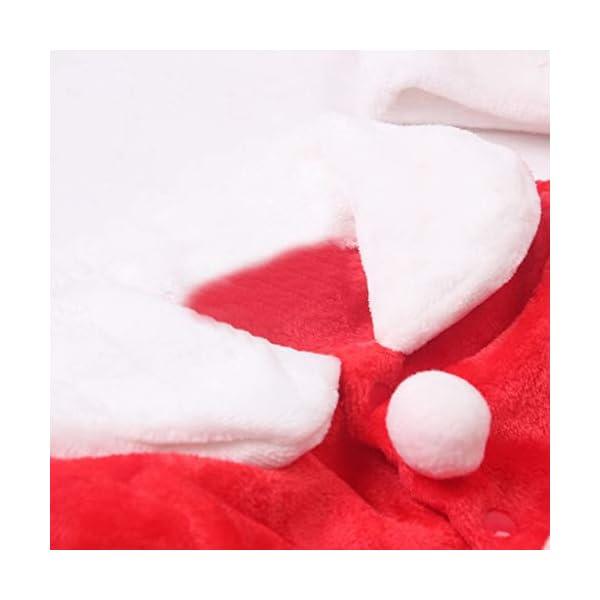 Navidad POLP Bebé Cosplay Tops Pantalones y Sombrero Cinturón Disfraz Conjuntos de 4 Piezas Rojo Verde Trajes Niñas… 3