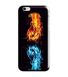 Hi-me Designer Phone Back Case Cover Apple iPhone 6S :: Apple iPhone6S ( Fight Fists Fiery Power Strong )