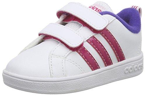 adidas Mädchen Advantage Vs Inf Sneaker, Weiß (Ftwwht/Bopink/Cpurpl), 23 EU (Schuhe Vs Wanderschuhe)