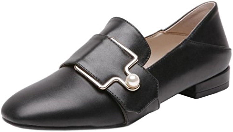 Coolcept Mujer Cerrado Loafers Zapatos Tac¨®n Bajo