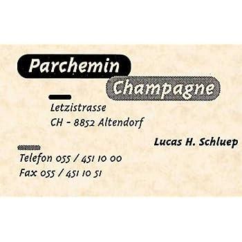 Apli DECAdry Pochette De 120 Cartes Visite Pre Imprimees Parchemin Champagne 85 X 54 Mm 165 G