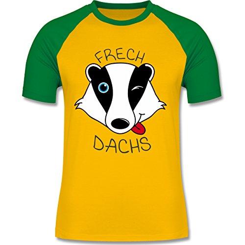 Shirtracer Statement Shirts - Frechdachs - Herren Baseball Shirt Gelb/Grün