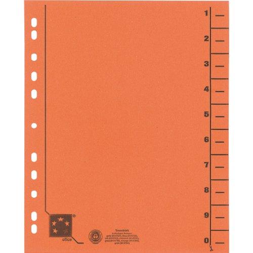 Preisvergleich Produktbild 5 Star 914786 Trennblätter vollfarbig 30x24 cm, RC Karton 230 g/qm Inh.100, orange