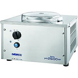 Sorbetière Pro 2500 SP professionnelle. Fonctionnement sur 220/240 volts monophasé 50/60 Hz.
