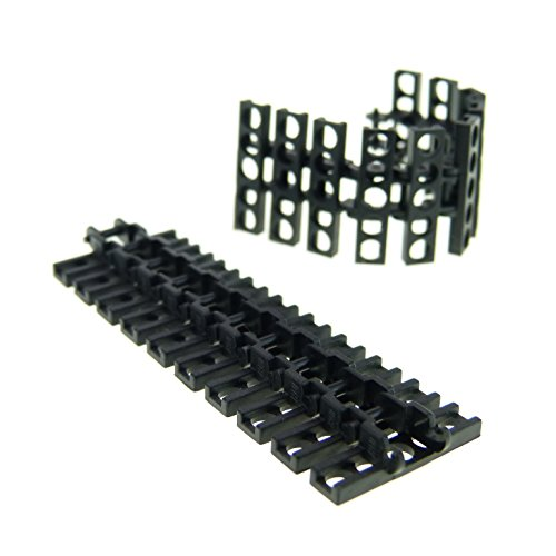 20 x Lego Technic Kettenglied schwarz Größe mittel Panzer Raupen Bagger Kran Glieder Kette Star Wars 7664 link chain 3873