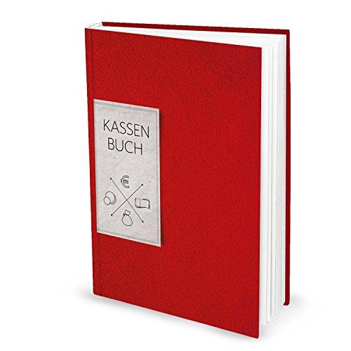 Ordnungsgemäßes Kassenbuch DIN A4 (Hardcover) in rot für Barzahlungen zur einfachen Übersicht der Finanzen und Geld-Einnahmen und Ausgaben; 148 Seiten; ideal auch als Geschenk! 1a Qualität