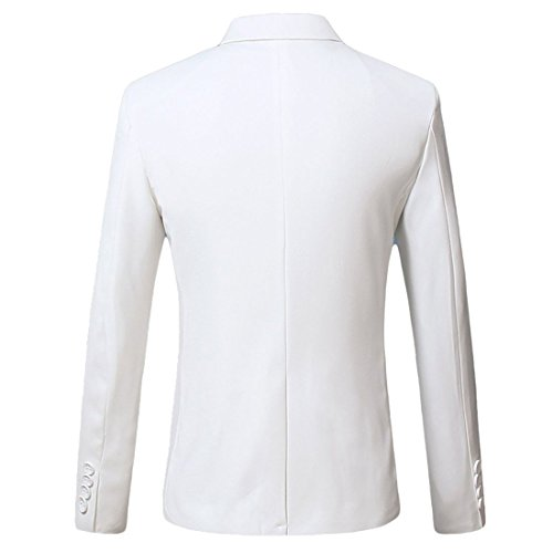 Xsiapas -  Blazer  - Basic - Classico  - Maniche lunghe  - Uomo White