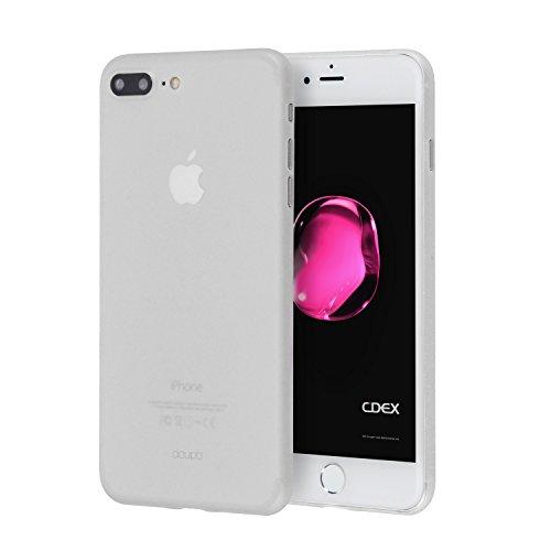 doupi UltraSlim Hülle für iPhone 8 Plus / 7 Plus (5,5 Zoll), Ultra Dünn Fein Matt Oberfläche Handyhülle Cover Bumper Schutz Schale Hard Case Taschenschutz Design Schutzhülle, weiß 7 Hard Case