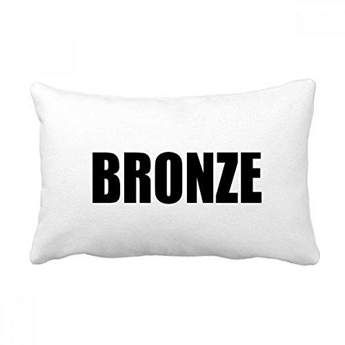 DIYthinker Bronze Farbe Schwarz Namen Werfen Lendenkissen Kissenbezug Startseite Dekor-Geschenk 16 Zoll x 24 Zolls Mehrfarbig -