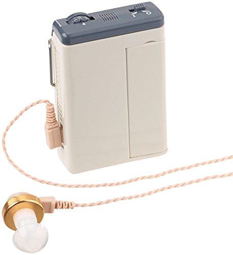 newgen medicals Abhörgeräte: Power-Taschen-Hörverstärker mit Kopfhörer, bis 50 dB, 170 Std Laufzeit (Taschenhörverstärker)