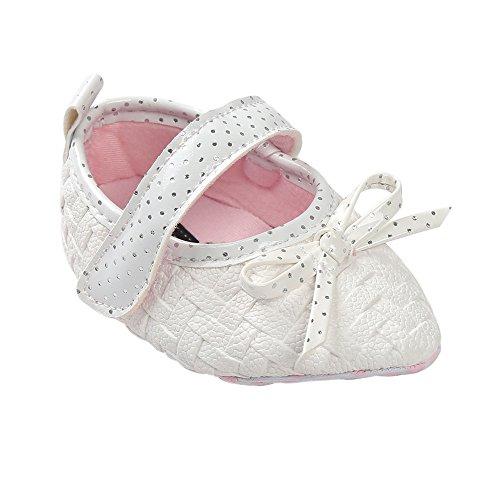 ESTAMICO , {Chaussures premiers pas pour bébé (garçon) noir noir 12-18months Blanc