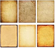 Stationery Paper - Old Fashion Aged Classic Antique & Vintage Assorted Design - Double-Side Parchment Pape