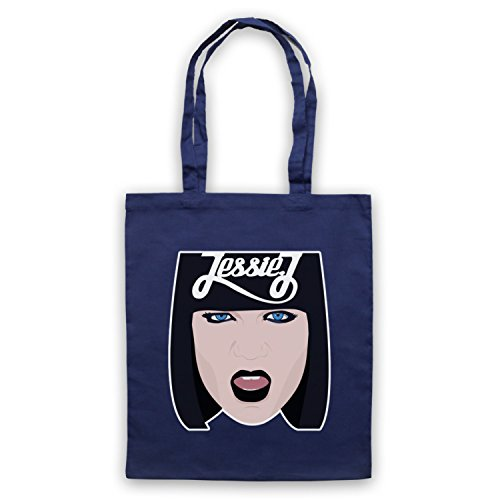 Inspiriert durch Jessie J Face Illustration Inoffiziell Umhangetaschen Ultramarinblau